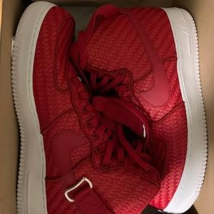 Air Force 1 High '07 LV8 Woven 'Gym Red'